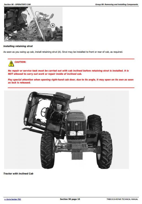 Fourth Additional product image for - John Deere 6110J, 6125J, 6130J Tractors Service Repair Technical Manual (Worldwide Edition) (TM801919)