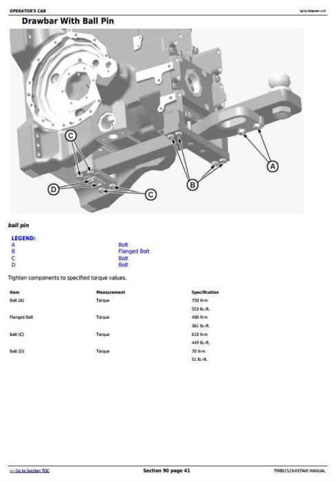 Third Additional product image for - John Deere 6145J, 6165J, 6180J & 6205J (Worldwide Edition) Tractors Service Repair Manual (TM801519)