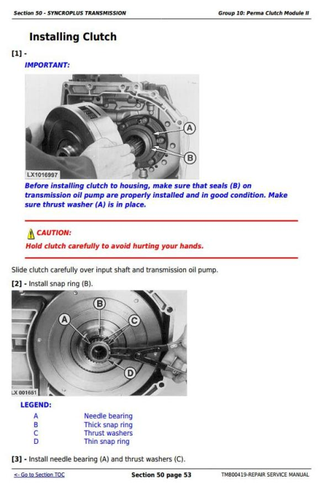 Second Additional product image for - John Deere Tractors 6415, 6615, 6110E, 6125E (South America) Service Repair Technical Manual (TM800419)