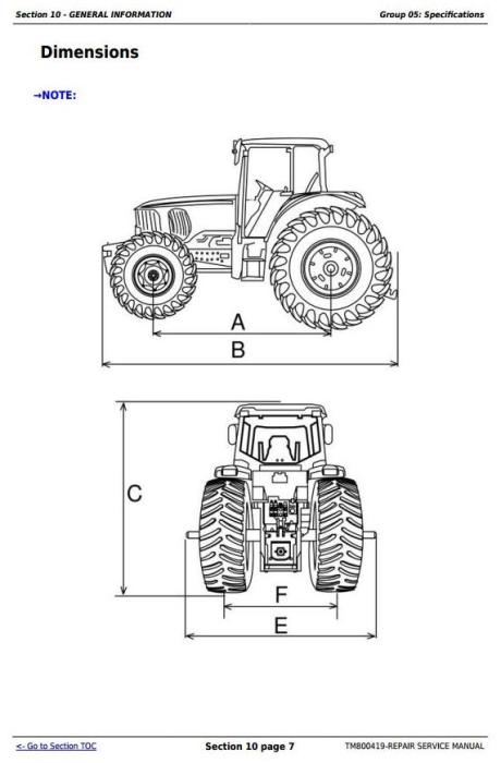 John Deere Tractors 6415, 6615, 6110E, 6125E (South