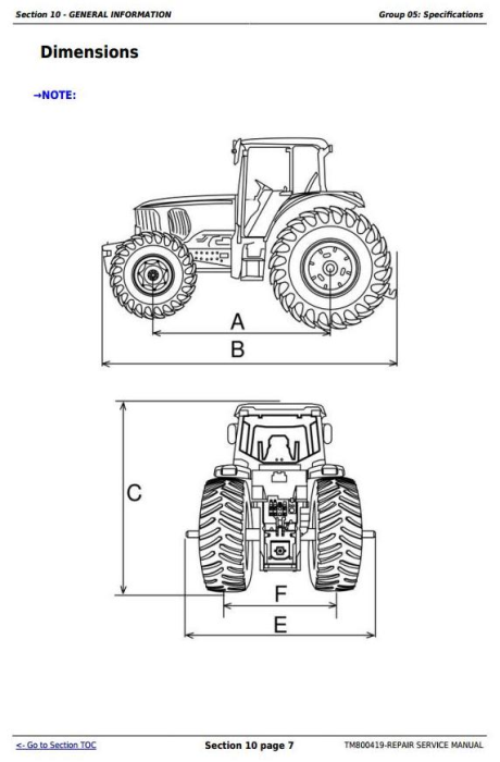 Fourth Additional product image for - John Deere Tractors 6415, 6615, 6110E, 6125E (South America) Service Repair Technical Manual (TM800419)