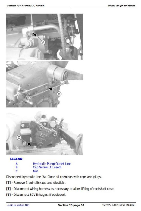 Fourth Additional product image for - Deere Tractors 5-750, 5-754, 5-800, 5-804, 5-850, 5-854, 5-900, 5-950 Service Repair Manual TM700519