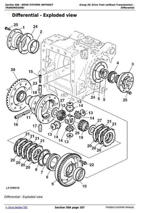 Second Additional product image for - John Deere Tractor 6090MC, 6100MC, 6110MC, 6090RC, 6100RC,6110RC Service Repair Technical Manual TM406619