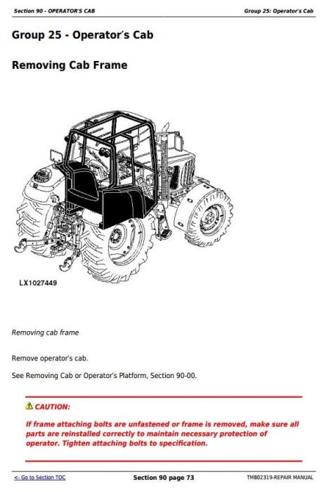Second Additional product image for - Deere 1654, 1854, 2054, 2104, 6165J, 6185J, 6205J, 6210J China Tractors Repair Manual (TM802319)