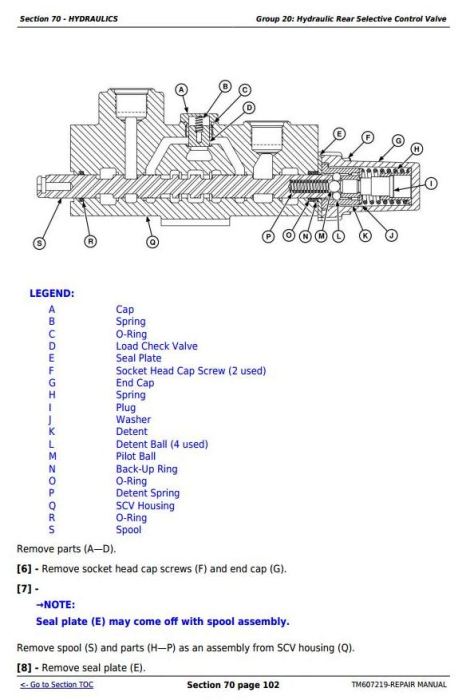 Third Additional product image for - John Deere Tractor 6105D, 6115D, 6130D, 6140D (SN:050001-100000) Service Repair Technical Manual TM607219
