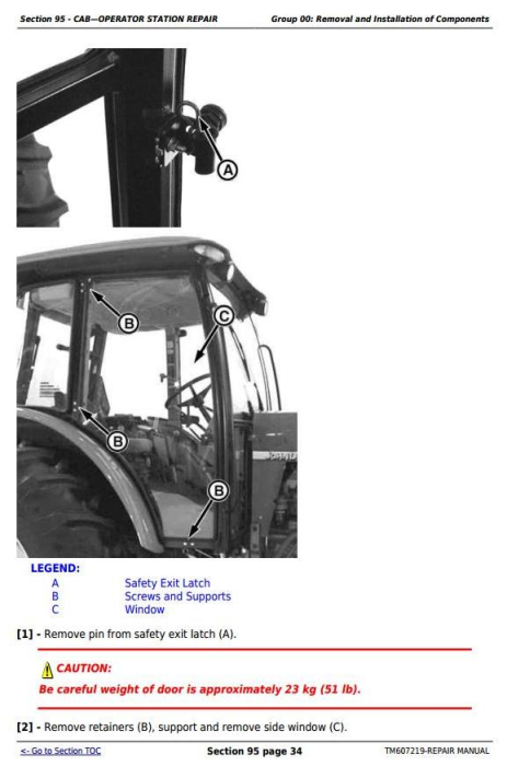Fourth Additional product image for - John Deere Tractor 6105D, 6115D, 6130D, 6140D (SN:050001-100000) Service Repair Technical Manual TM607219