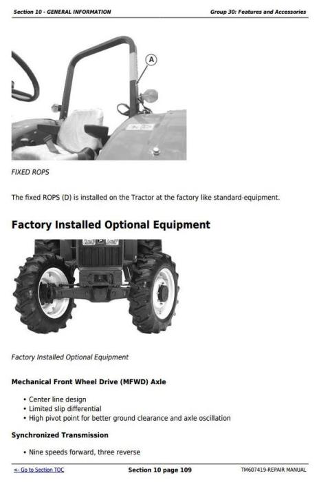 Third Additional product image for - Deere Tractors 5076E, 5076EL, 5082E, 5090E, 5090EL, 5090EH Service Repair Technical Manual TM607419