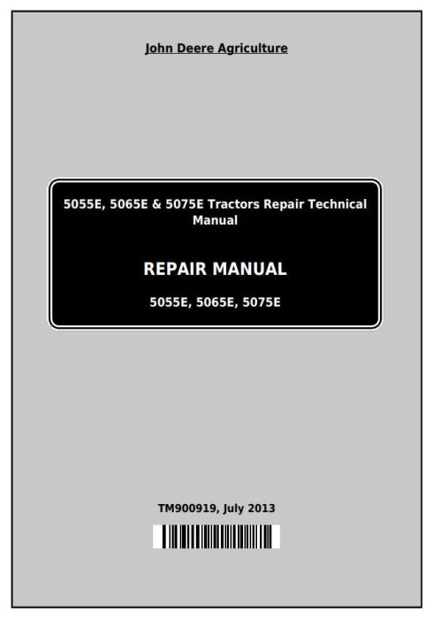 First Additional product image for - Deere Tractors 5055E, 5065, 5075E (North America) Service Repair Technical Manual (TM900919)