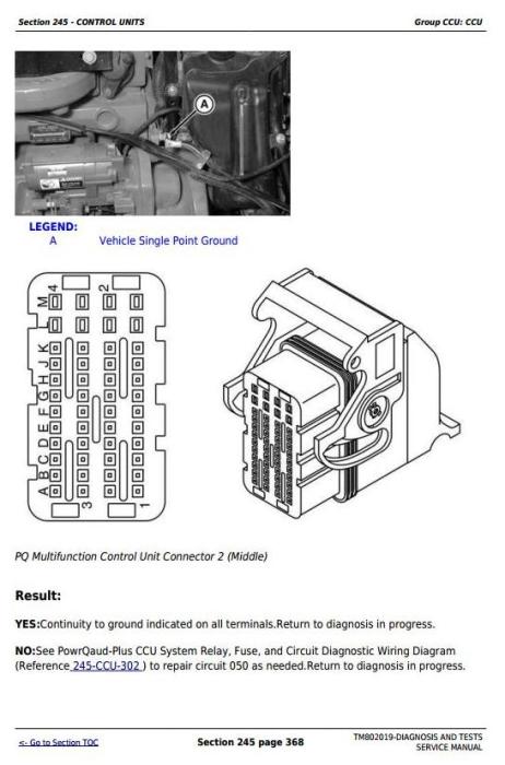 Second Additional product image for - John Deere 7185J, 7195J, 7205J, 7210J, 7225J Tractors Diagnosis and Tests Service Manual (TM802019)
