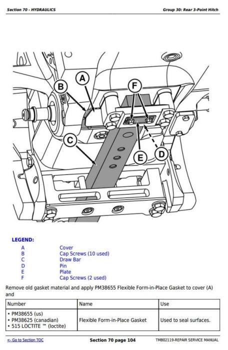 Second Additional product image for - John Deere 7185J, 7195J, 7205J, 7210J, 7225J (Worldwide) Tractors Service Repair Manual (TM802119)