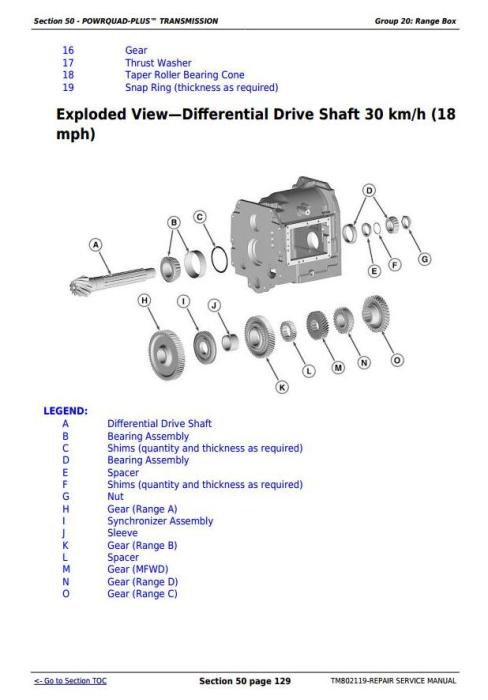 Third Additional product image for - John Deere 7185J, 7195J, 7205J, 7210J, 7225J (Worldwide) Tractors Service Repair Manual (TM802119)