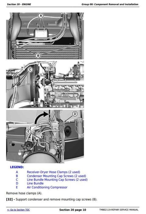 Fourth Additional product image for - John Deere 7185J, 7195J, 7205J, 7210J, 7225J (Worldwide) Tractors Service Repair Manual (TM802119)