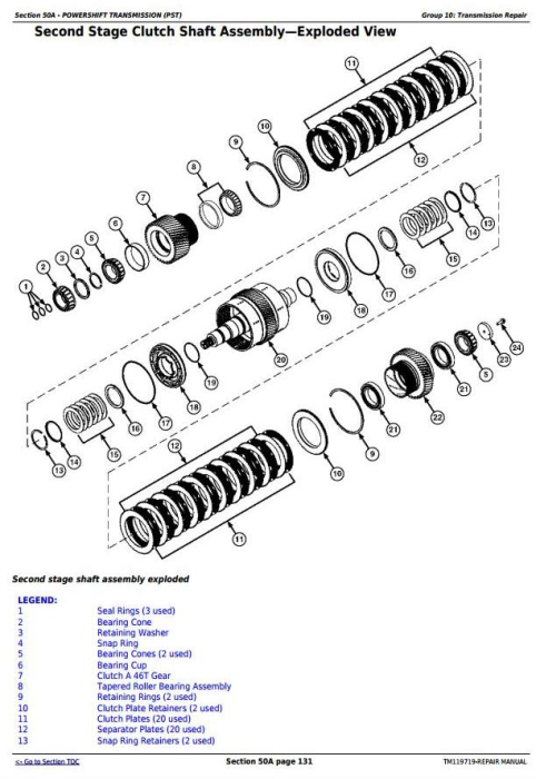 Second Additional product image for - John Deere 9470RT, 9520RT, 9570RT Tractors Service Repair Technical Manual (TM119719)