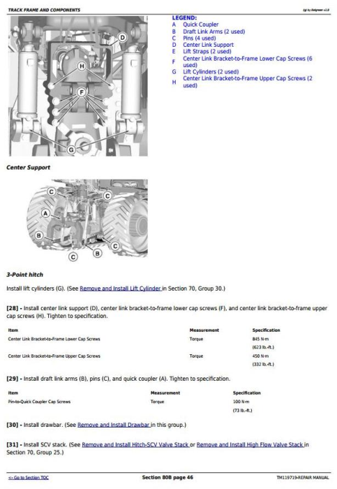 Third Additional product image for - John Deere 9470RT, 9520RT, 9570RT Tractors Service Repair Technical Manual (TM119719)