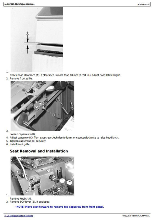 Fourth Additional product image for - Deere 3005 Compact Utility Tractors Diagnostic and Repair Technical Manual (TM102919)