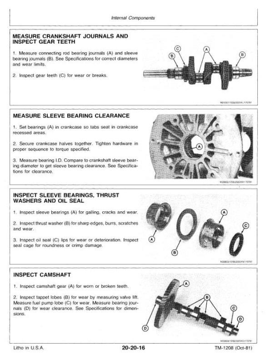 Fourth Additional product image for - Deere Hydrostatic Tractor Type 317 All Inclusive Technical Service Manual (TM1208)