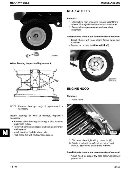 Fourth Additional product image for - John Deere 325, 345, 335 Lawn and Garden Tractors (SN. 070001-) Technical Service Manual (tm1760)