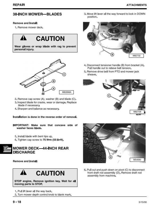 Fourth Additional product image for - John Deere 355D (SN. 085001-) Lawn and Garden Tractors Technical Service Manual (tm1771)