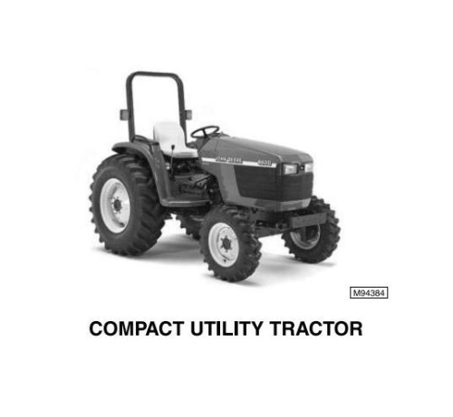 Second Additional product image for - John Deere 4500, 4600, 4700 Compact Utility Tractors All Inclusive Technical Service Manual (tm1679)