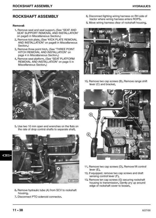 Fourth Additional product image for - John Deere 4500, 4600, 4700 Compact Utility Tractors All Inclusive Technical Service Manual (tm1679)