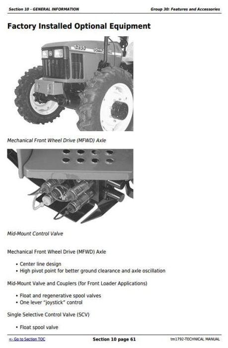 Third Additional product image for - Deere 5105 and 5205 USA Tractors Diagnostic and Repair Technical Manual (TM1792)