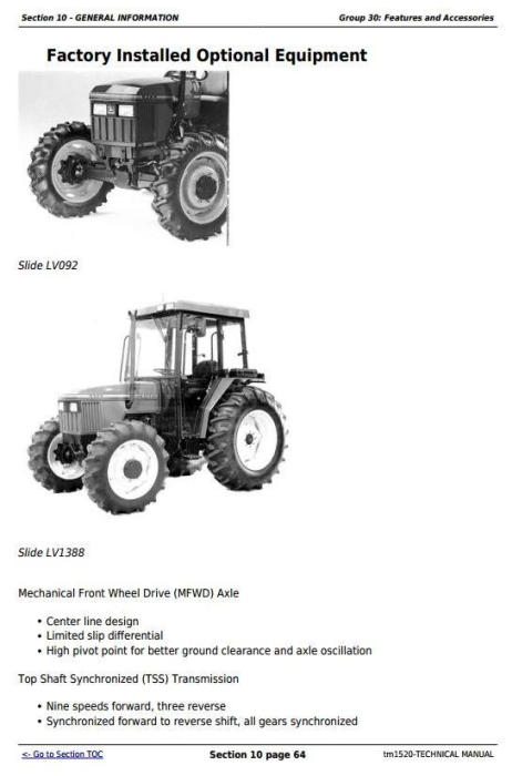 Fourth Additional product image for - Deere Tractors 5200, 5300, 5400 and 5500 All Inclusive Diagnostic, Repair Technical Manual (tm1520)