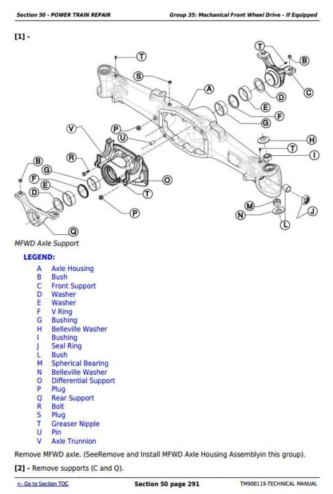 Second Additional product image for - Deere Tractors 5203S, 5303, 5403, 5503, 5310, 5310S, 5410, 5610 Technical Manual (TM900119)