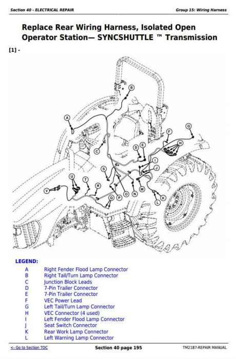 Third Additional product image for - Deere Tractors 5225, 5325, 5425, 5525, 5625, 5603 Service Repair Technical  Manual (TM2187)