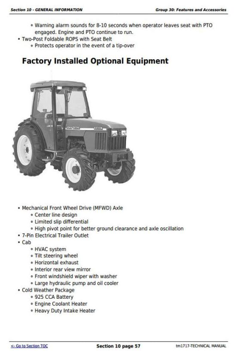 Third Additional product image for - Deere Tractors 5310N, 5510N (North America) All Inclusive Technical Service Manual (tm1717)