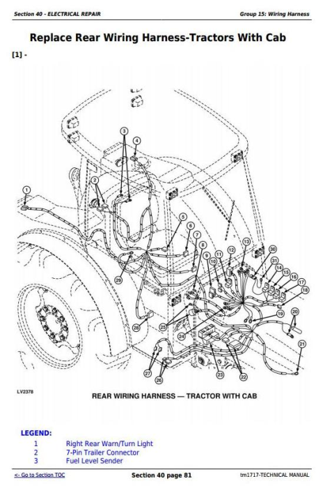 Fourth Additional product image for - Deere Tractors 5310N, 5510N (North America) All Inclusive Technical Service Manual (tm1717)