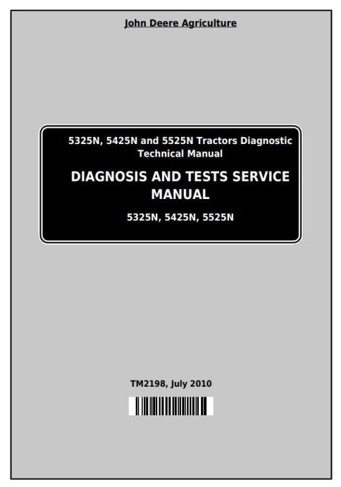 First Additional product image for - Deere Tractors 5325N, 5425N and 5525N (Worldwide) Diagnostic and Tests Service Manual (TM2198)
