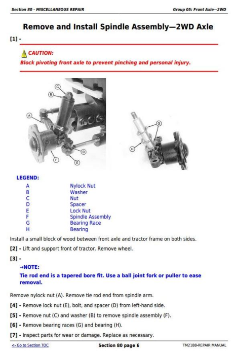 Second Additional product image for - John Deere Tractors 5325N, 5425N and 5525N USA Service Repair Technical  Manual (TM2188)
