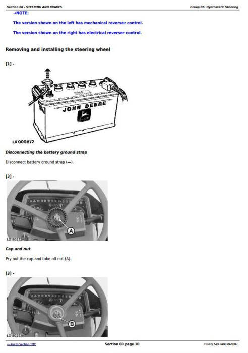 Third Additional product image for - John Deere 5620, 5720 and 5820 2WD or MFWD Tractors Service Repair Manual (tm4787)