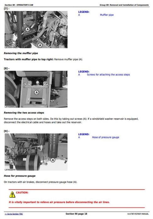 Fourth Additional product image for - John Deere 5620, 5720 and 5820 2WD or MFWD Tractors Service Repair Manual (tm4787)