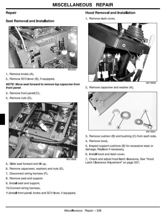 Fourth Additional product image for - John Deere 790 Compact Utility Tractors Technical Service Manual (tm2088)