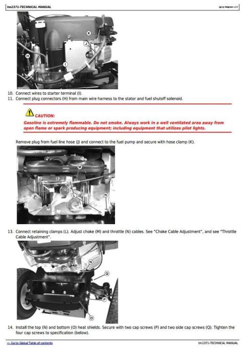 Second Additional product image for - John Deere LA100, LA110, LA120, LA130, LA140, LA150 Riding Lawn Tractors Technical Service Manual TM2371
