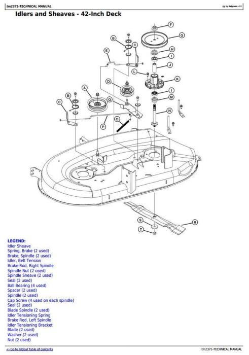 Fourth Additional product image for - John Deere LA100, LA110, LA120, LA130, LA140, LA150 Riding Lawn Tractors Technical Service Manual TM2371