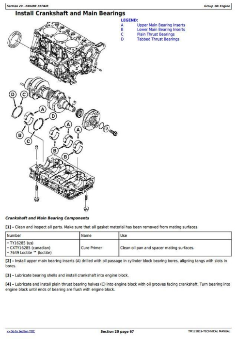 Second Additional product image for - John Deere X750, X754, X758 Signature Series Tractors (SN.010001-040000)Technical Service Manual TM122819
