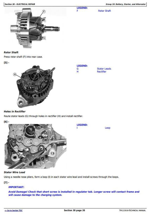 Second Additional product image for - John Deere X750, X754, X758 Signature Series Tractors (SN.010001-040000)Technical Service Manual TM122919