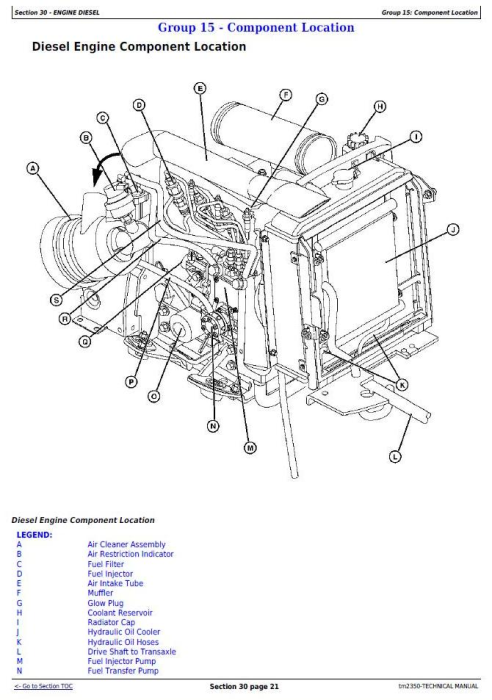 Second Additional product image for - John Deere X740, X744, X748, X749 Select Series Tractors (North America) Technical Service Manual TM2350