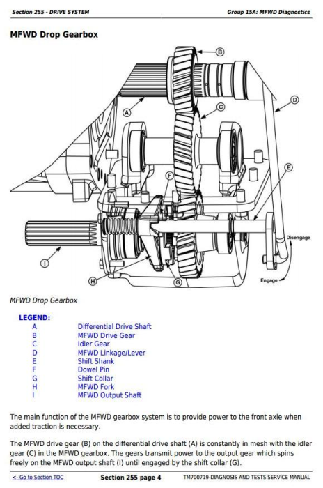 Third Additional product image for - John Deere 904, 1054, 1204, 1354 China Tractors Diagnosic and Tests Service Manual (TM700719)