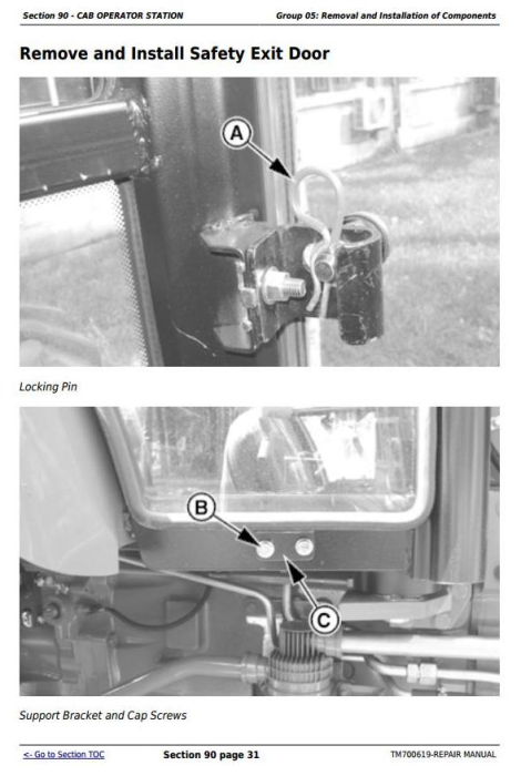 Second Additional product image for - John Deere 904, 1054, 1204, 1354, 1404 China Tractors Service Repair Manual (TM700619)