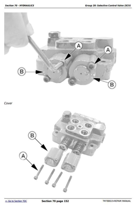 Third Additional product image for - John Deere 904, 1054, 1204, 1354, 1404 China Tractors Service Repair Manual (TM700619)