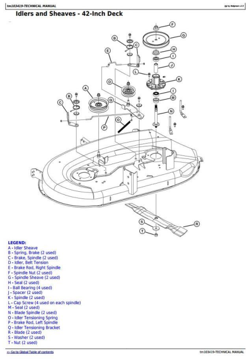 Fourth Additional product image for - John Deere LA105, LA115, LA125, LA135, LA145, LA155, LA165, LA175 Lawn Tractors Technical Manual TM103419