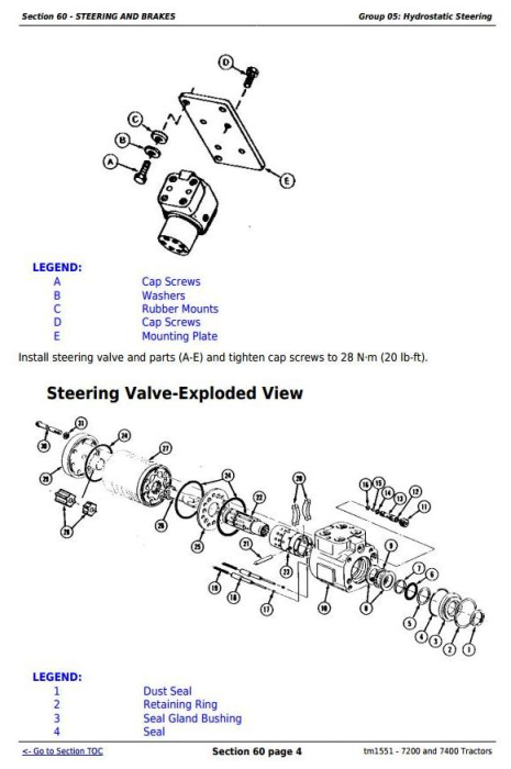 Second Additional product image for - John Deere 7200 and 7400 2WD or MFWD Tractors Service Repair Manual (tm1551)