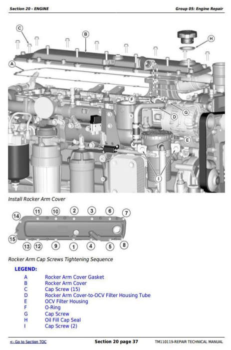 Fourth Additional product image for - John Deere 7200R, 7215R, 7230R, 7260R, 7280R Tractors Service Repair Manual (TM110119)