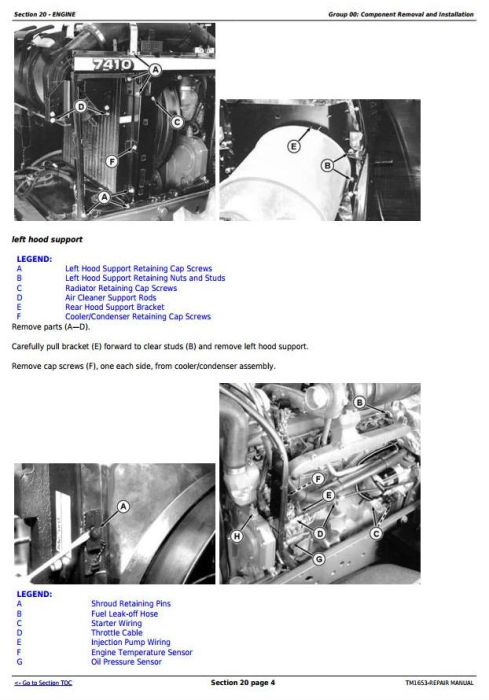 Second Additional product image for - John Deere 7210, 7410, and 7510 2WD or MFWD Tractors Service Repair Manual (TM1653)