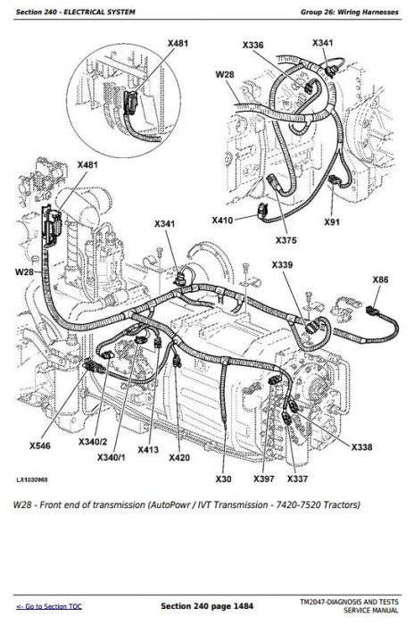 Second Additional product image for - John Deere 7220, 7320, 7420, 7520 2WD or MFWD Tractors Diagnosis and Tests Service Manual (TM2047)