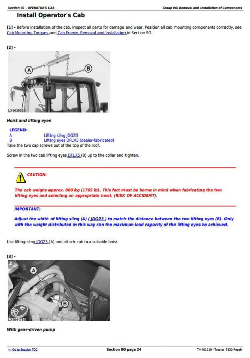 Third Additional product image for - John Deere Tractor 7330 2WD or MFWD Tractors Service Repair Manual (TM401219)