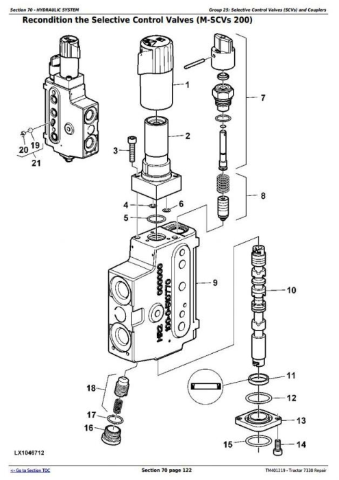 Fourth Additional product image for - John Deere Tractor 7330 2WD or MFWD Tractors Service Repair Manual (TM401219)